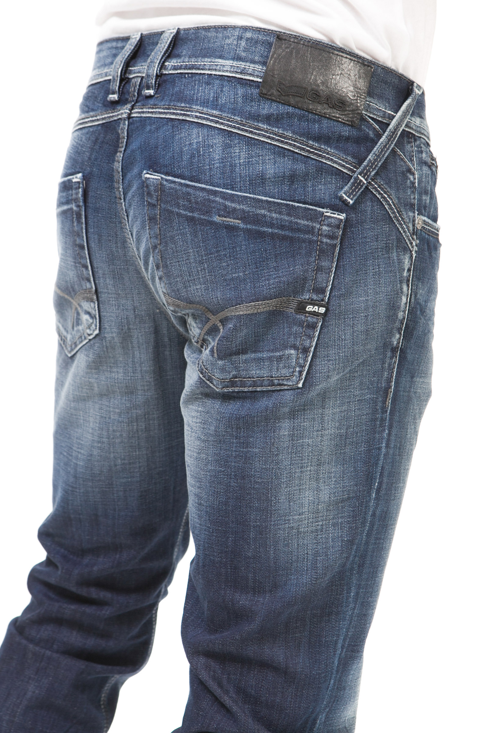 GAS WARRIS J. W867 Pantaloni jeans da uomo 5 tasche denim stretch straight fit | eBay